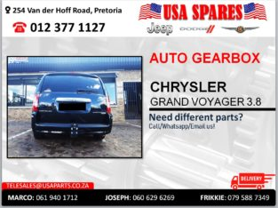 CHRYSLER GRAND VOYAGER 3.8 AUTOMATIC USED GEARBOX