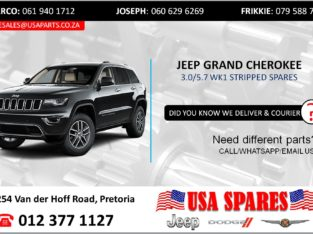 JEEP GRAND CHEROKEE 3.0/5.7 WK1 STRIPPED SPARES/PARTS