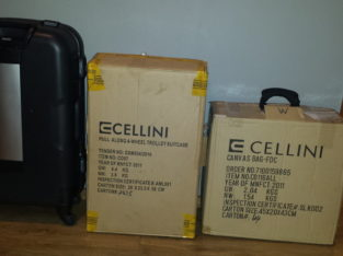 DURABLE HARD SHELL SUITCASES CELLINI BRAND