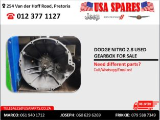 DODGE NITRO 2.8 USED GEARBOX FOR SALE