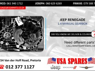 JEEP RENEGADE 1.4 USED/STRIPPED MANUAL GEARBOX FOR SALE