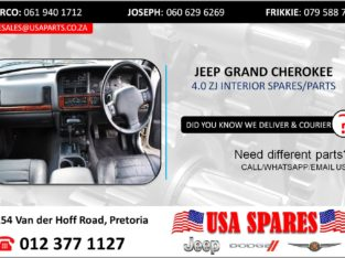 JEEP GRAND CHEROKEE 4.0 STRIPPED INTERIOR SPARES/PARTS