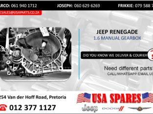 JEEP RENEGADE 1.6 USED/STRIPPED MANUAL GEARBOX FOR SALE