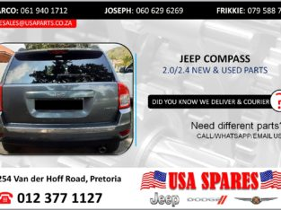 JEEP COMPASS 2.0/2.4 NEW & USED PARTS/SPARES