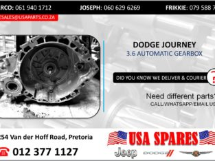 DODGE JOURNEY 3.6 USED/STRIPPED AUTOMATIC GEARBOX FOR SALE