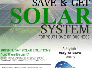 Invest in Solar Power today and reduce/eliminate your bills.