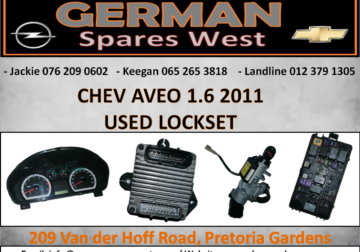 CHEV AVEO 1.6 USED LOCKSET FOR SALE