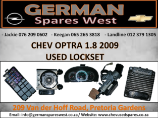CHEV OPTRA 1.8 USED LOCKSET FOR SALE