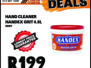 Handex Hand Cleaner Grit 4.5L ONLY R199 at Midas Witbank!