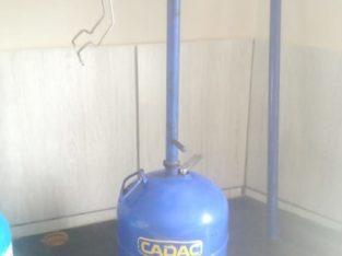 Cadac 3kg gas bottle plus Skottel