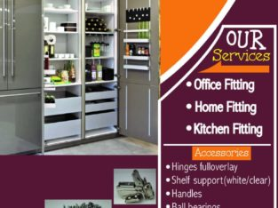 Wood products, and we also do home Office and kitchen fittings