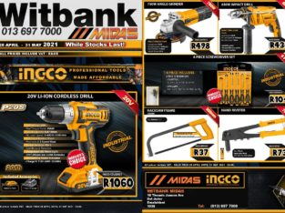 INGCO Power Tools SALE now on at Midas Witbank!