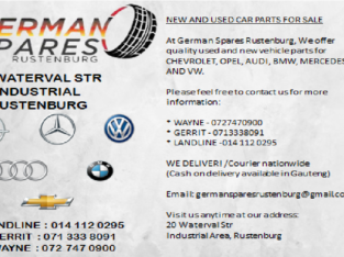 SELLING OF NEW AND USED CAR PARTS FOR SALE