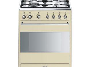 Smeg 60cm Gas/Electric Cream Cooker – SSA60MP9