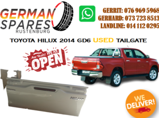 TOYOTA HILUX 2014 GD6 TAILGATE FOR SALE!!!