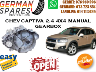 CHEV CAPTIVA 2.4 4X4 MANUAL GEARBOX FOR SALE