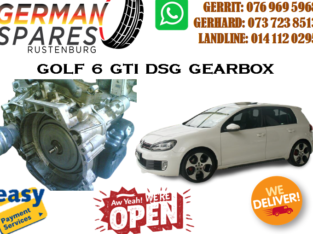 GOLF 6 GTI DSG GEARBOX FOR SALE