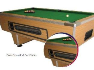 Easy8 pool table RENO brand new R1 R2 or R5 coin-operated