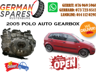 VW POLO 2005 AUTO GEARBOX FOR SALE