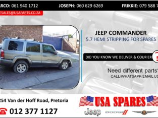 JEEP COMMANDER 5.7 STRIPPING FOR USED SPARES/PARTS