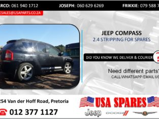 JEEP COMPASS 2.4 STRIPPING FOR USED SPARES/PARTS