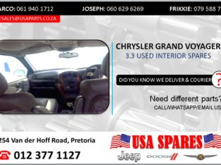 CHRYSLER GRAND VOYAGER 3.3 USED INTERIOR SPARES/PARTS