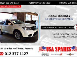 DODGE JOURNEY 3.6 STRIPPING FOR USED SPARES/PARTS