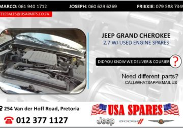 JEEP GRAND CHEROKEE 2.7 WJ USED ENGINE SPARES/PARTS