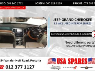 JEEP GRAND CHEROKEE 3.6 USED INTERIOR SPARES/PARTS