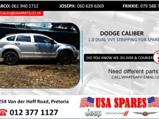 DODGE CALIBER 1.8 DUAL VVT STRIPPING FOR USED SPARES/PARTS