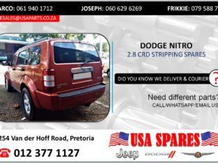 DODGE NITRO 2.8 STRIPPING FOR USED SPARES/PARTS