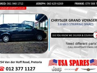 CHRYSLER GRAND VOYAGER 3.8 STRIPPING FOR USED SPARES/PARTS