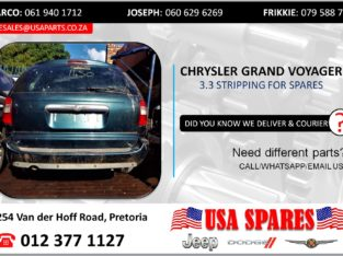 CHRYSLER GRAND VOYAGER 3.3 STRIPPING FOR USED SPARES/PARTS