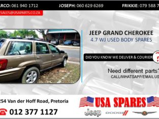 JEEP GRAND CHEROKEE 4.7 WJ USED BODY SPARES/PARTS