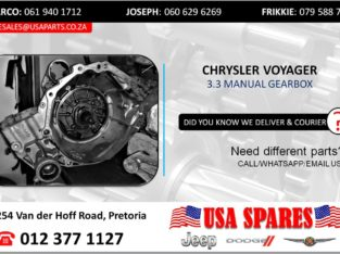 CHRYSLER VOYAGER 3.3 MANUAL TRANSMISSION