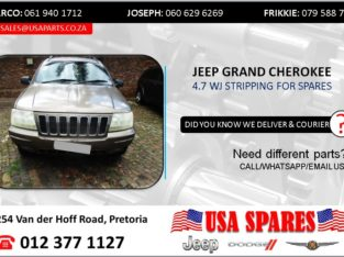 JEEP GRAND CHEROKEE 4.7 WJ 2003 STRIPPING FOR SPARES