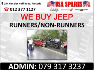 WE BUY JEEP RUNNERS & NON RUNNERS FOR PARTS