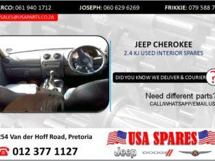 JEEP CHEROKEE 2.4 KJ USED INTERIOR SPARES/PARTS