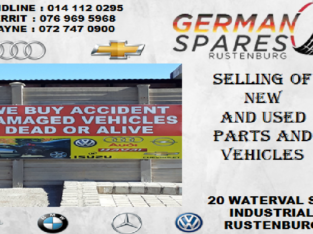 GERMAN SPARES RUSTENBURG NEW AND USED PARTS FOR SALE