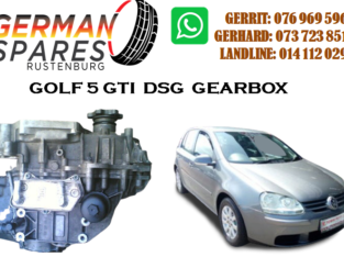 GOLF 5 GTI DSG GEARBOX FOR SALE
