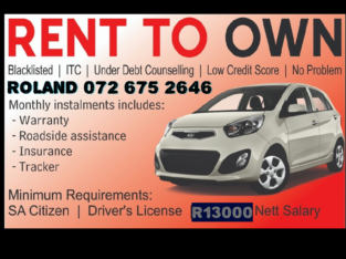 Rent to own vehicles