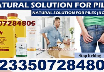 Natural Solution For Piles in Ghana
