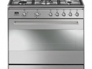 Smeg 90cm 5 Burner Stainless Steel Gas/Electric Stove – SSA91MAX9