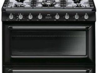 Smeg 90cm Victorian Black 5 Burner Gas/Electric- TR90BL9