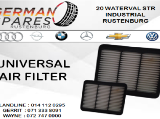 UNIVERSAL AIR FILTER FOR SALE