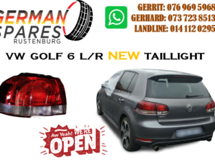 VW GOLF 6 L/R TAILLIGHT FOR SALE