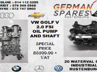 VW GOLF V 2.0 FSI OIL PUMP AND SHAFT FOR SALE