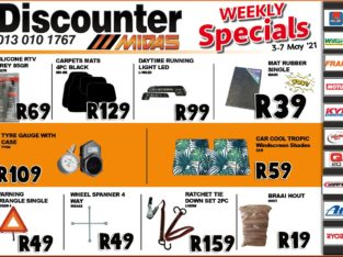 Weekly Specials now on at Discounter Midas!