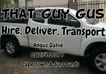 """""""Bakkie and driver for hire, priced according to your budget"""""""
