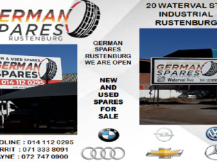 NEW AND USED CAR SPARES FOR SALE